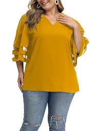 Allegrace Size Chart Allegrace Summer Women Plus Size Blouses Casual Loose Half Sleeve V Neck Blouse Tops