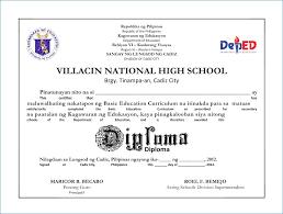 High School Diploma Description For Resume Resume Layout Com