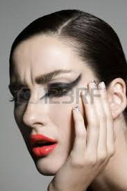 model wearing makeup inspired by flamenco photo