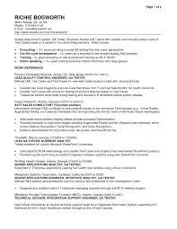 Sample Resume Qa Tester Reference Sample Resume For Qa Manual Tester