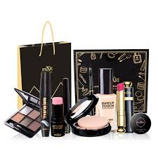 9pcs set gift package pro full makeup sets including eyeshadow lipstick maa foundation blush powder