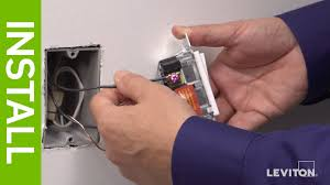 leviton presents how to install a decora rocker slide dimmer