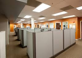 image business office. Cubicle Office With Great Lighting And Color Image Business