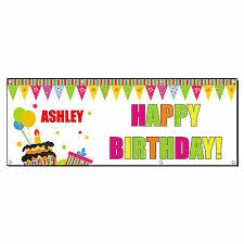 happy birthday customized banners happy birthday custom name banner sign 4 ft x 2 ft w 4