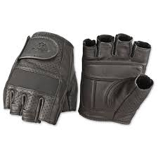 highway 21 men s jab perforated fingerless black leather gloves