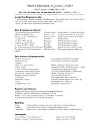 Music Resume Template Music Resume Samples Singers And Musicians Phoenix Arizona Sample 41