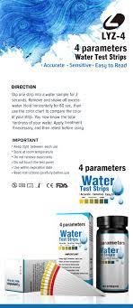 Pool Water Test Chart 4 In 1 Pool Water Test Strips Ph Free Chlorine Bromine Total Alkalinity Buy Pool Test Strips Water Test Strips Pool Test Kit Product On