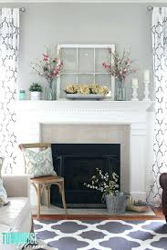 what to put above fireplace mantel room makeover fireplace mantel inspiration summer decor how high to