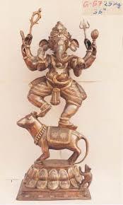 brass bronze antique finish statues item code bs201 3 feet high dancing ganesha