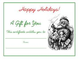 Printable Christmas Certificates Free Holiday Gift Certificates Templates to Print HubPages 74