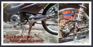 n modifikasi motor supra fit new drag tern palm