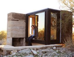 Small Picture Student builds micro home in desert with just enough room for a