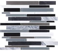 artic night glass stone stainless linear blend mosaic tol stl ang ln linear bliss glass stone arctic night stainless blend lifestyle compressed