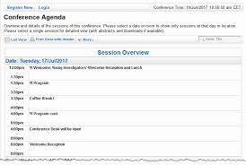 sample meeting schedule conftool create the conference agenda