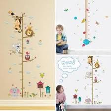 Details About Co_ Children Height Growth Chart Measure Wall Sticker Kids Room Animal Decal Exo