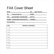 Blank Fax Cover Sheet Word – Goeventz.co