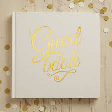 Ivory And Gold Foiled Wedding Guest Book By Ginger Ray