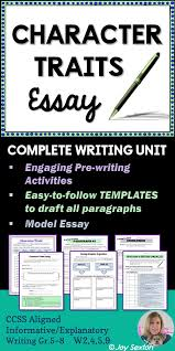 character trait character traits list and a character on pinterest character traits essay   heres a literary essay made easy and ready to use with any