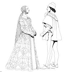 Printable Historical Fashion Coloring Pages For