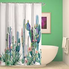 standard flower size amazon com hmwr tropical plants cactus waterproof bath shower
