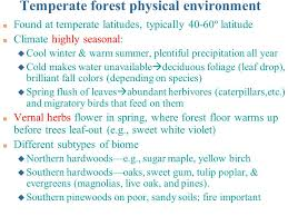 terrestrial biomes of the world lecture topics ppt video online  7 temperate forest physical environment