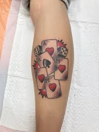 ワンポイントトランプ 家族タトゥーです タトゥーは人生のスパイス