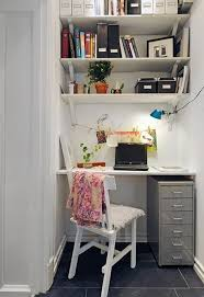 closet home office. Stylish White Home Office In A Closet
