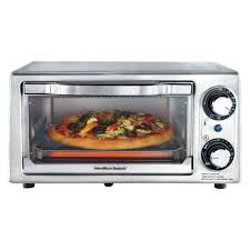 beach toaster oven 4 slice stainless steel hamilton countertop with rotisserie 31104