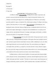 lord of the flies documents course hero lord of the flies analysis essay
