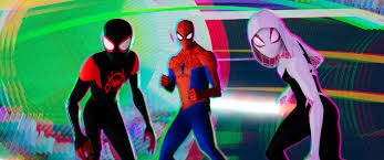 miles mes shameik moore peter parker jake johnson and spider gwen hailee steinfeld in columbia pictures and sony pictures animations spider man
