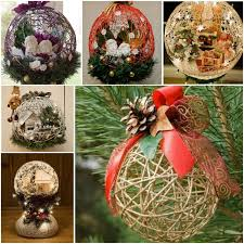 How To Make String Ball Decorations Amazing DIY String Balloon Basket For Christmas