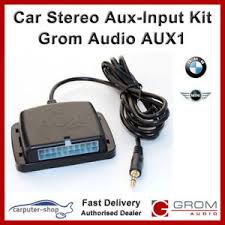 grom audio aux in adapter kit aux1 for bmw e46 e39 e38 e53 e83 mini image is loading grom audio aux in adapter kit aux1 for