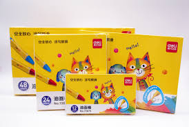 <b>Deli</b> Wax Crayon Kids Oil Painting Stick Candy Color <b>Oil Pastel</b> ...