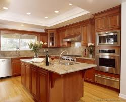 ... Nice Idea Kitchen Colors With Brown Cabinets 3 Traditional Medium Wood  Golden Kitchen Cabinets 36 Kitchen ...