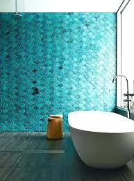 bubble tiles for bathroom turquoise bathrooms where tile is the star of show glass wall white bubble tiles