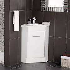 bathroom vanity unit units sink cabinets: the naeva corner vanity unit white gloss with basin  x cm is a set of