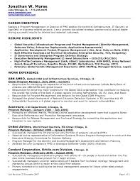 project manager resume objective resume admin assistant cover