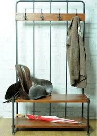 Industrial Coat Rack Bench Going Old School Reclaimed Hall Bench And Coat Rack At Rose Grey 11