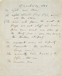 walt whitman  walt whitman s handwritten manuscript for broadway 1861