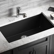 White Sinks For Kitchen Mr Direct 848 Black Trugranite Single Bowl Kitchen Sink Amazoncom