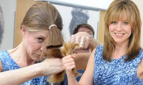is a diy hairdo a shortcut to disaster as more women skip the salon to save money one brave volunteer tries cutting her own hair daily mail