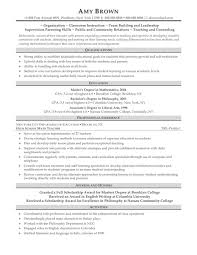Sample Resume For Primary School Teacher Resume For Your Job