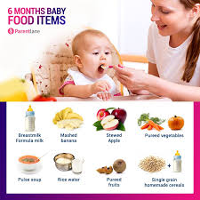 6 Month Diet Chart 6 Months Old Baby Food Chart