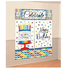 happy birthday party scene setter wall decorating kit 670472 1 of 1only 2 available