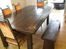 Awesome Plank Dining Room Table Photos AWconsultingus - Diy rustic dining room table