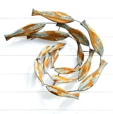 metal fish wall art fish shoal wall art our gallery of modest ideas wooden fish wall