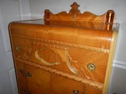 antique art deco bedroom furniture. 1947 birch art deco waterfall bedroom set for sale antique furniture m
