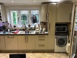 Wickes Kitchen Wall Cabinets Wickes New Jersey Kitchen Inc Fridge Freezer Range Oven Cooker