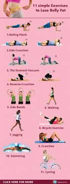 11 simple exercise to lose belly fat
