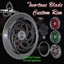 second life marketplace tbb two tone blade rim custom chopper parts